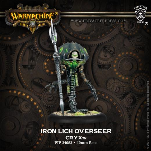 Warmachine Cryx Iron Lich Overseer Solo WEB