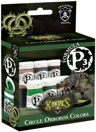 """Hordes Circle Orboros Colors P3 Paint Box