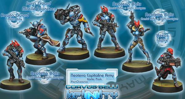 Infinity PanOceania Neoterran Capitaline Army  Sectorial Starter Pack (6) BOX WEB
