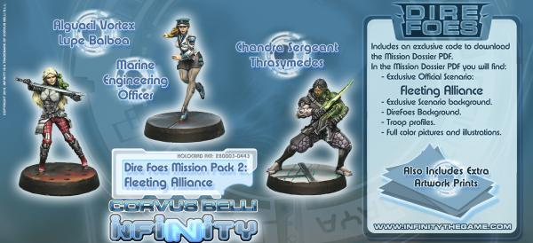 Infinity Dire Foes Mission Pack 2 Fleeting Alliance (Nomads VS ALEPH) Lupe Balboa  Thrasymedes  Mari