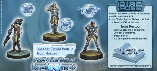 Infinity Dire Foes Mission Pack 1 Train Rescue Bipandra  Anyat  Angus (3) BOX WEB