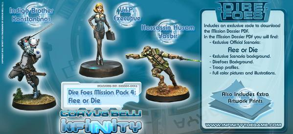 Infinity Dire Foes Mission Pack 4 Flee or Die VIP Executive BOX (3) WEB