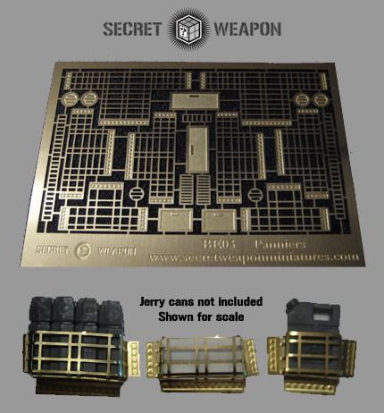 """Secret Weapon Brass Etch: Panniers & Details