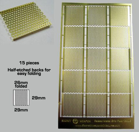 Secret Weapon Brass Etch: Raised Metal Grid Flooring