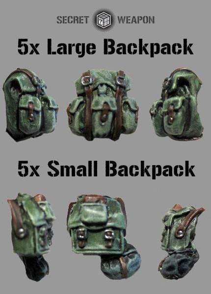 Secret Weapon Mixed Backpack Set (5x Large 5x Small) (10)
