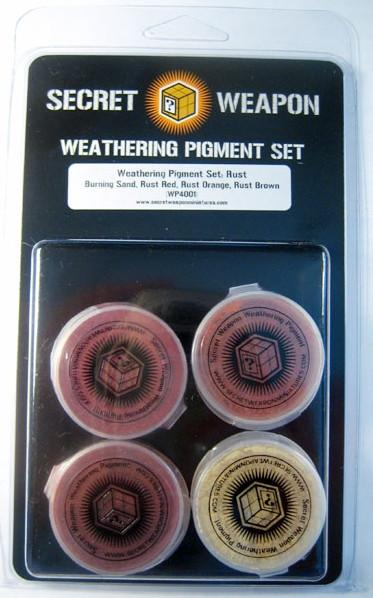 Secret Weapon Weathering Pigment Set: Rust
