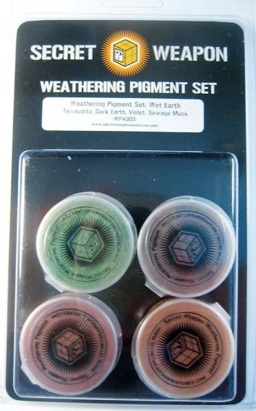 Secret Weapon Weathering Pigment Set: Wet Earth