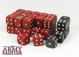 """Army Painter: Wargaming RED Dice (black secondary)