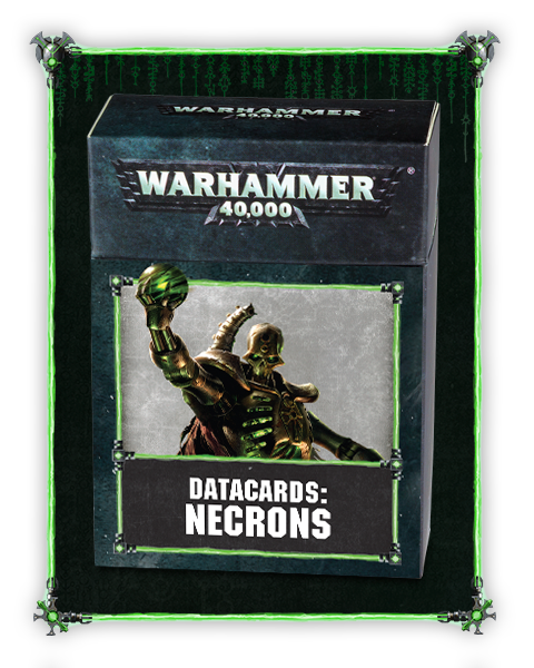 DATACARDS NECRONS 2018 PRE-ORDER DICEHEADdotCOM