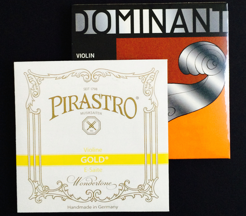 Thomastik-Infeld Dominant Strings Special Set A, D, G with Pirastro Gold E