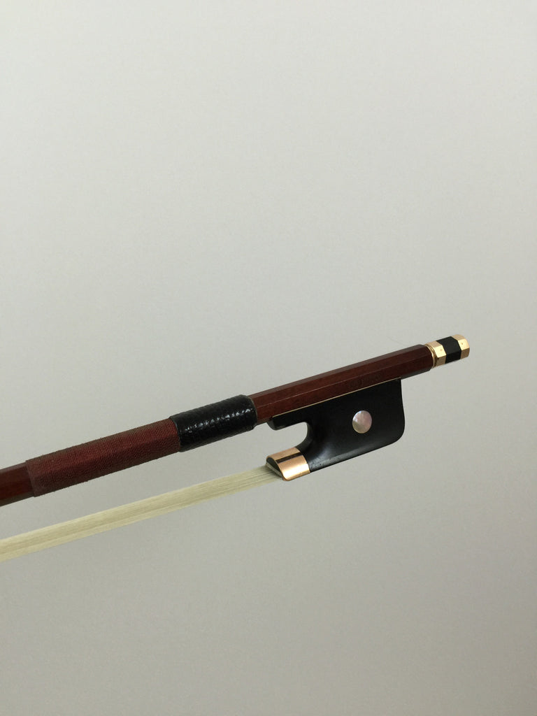 Pernambuco - 10K Gold Mount Tourte Model Cello Bow