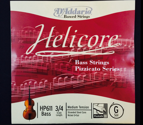 Helicore Pizzicato Bass Strings
