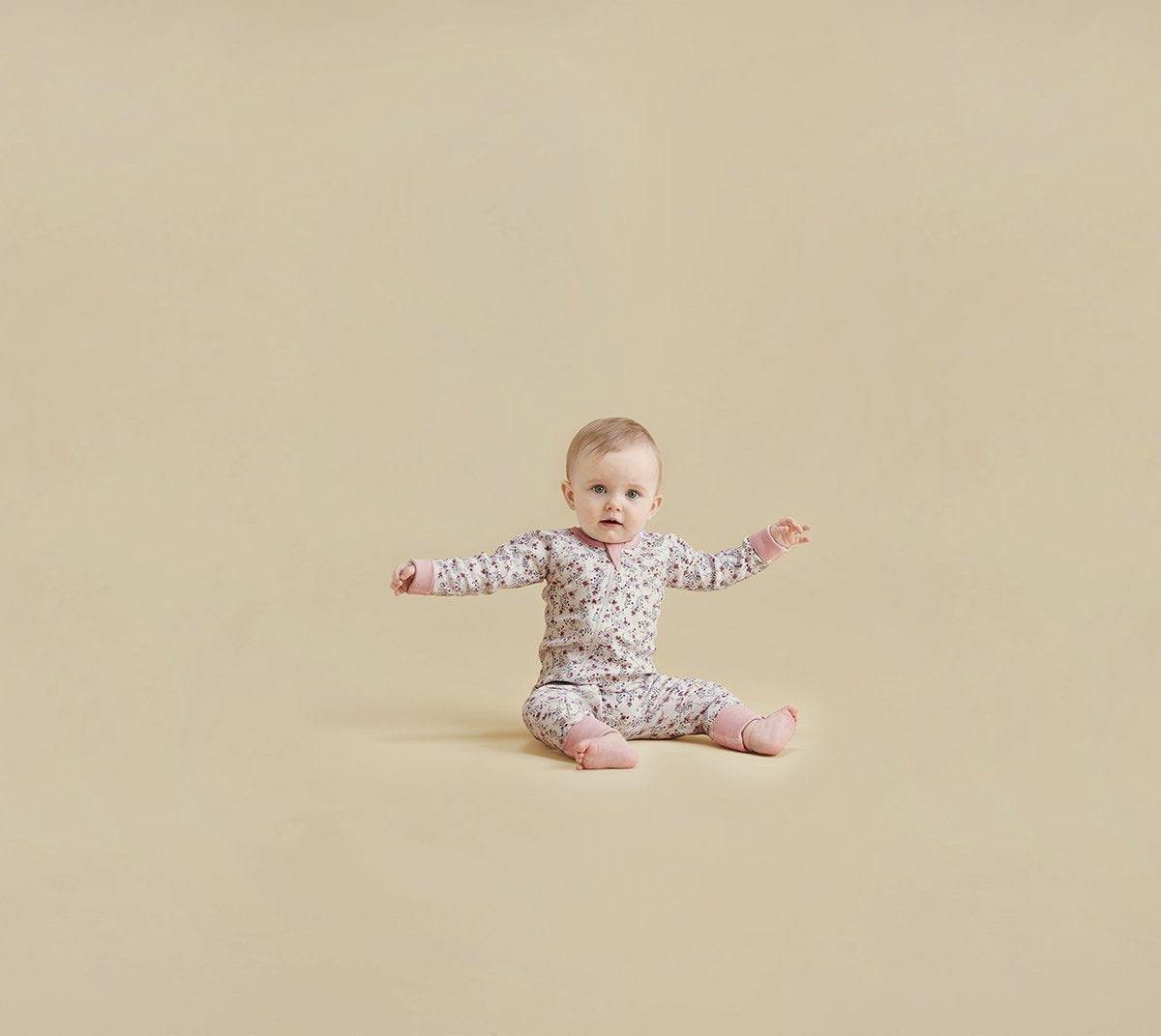 Full Bloom Zip Romper - Sapling Organic Baby Clothes
