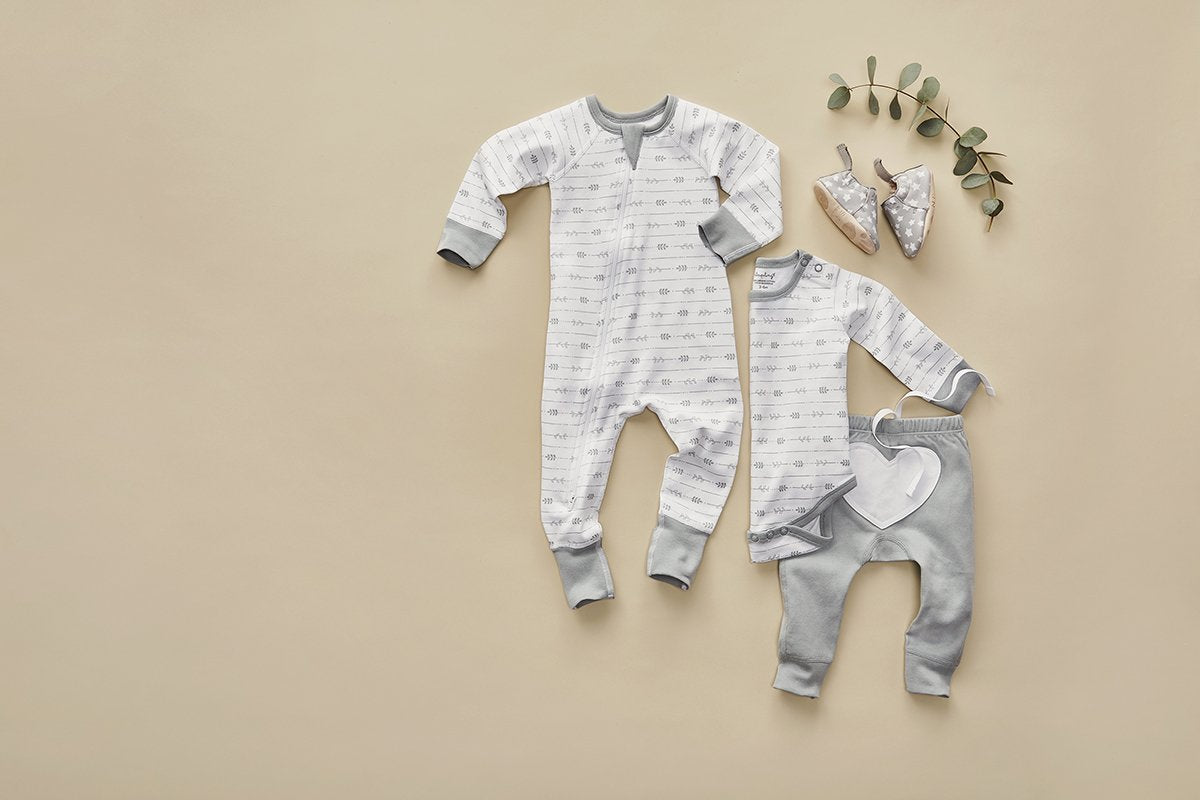 Leaf Zip Romper - Sapling Organic Baby Clothes