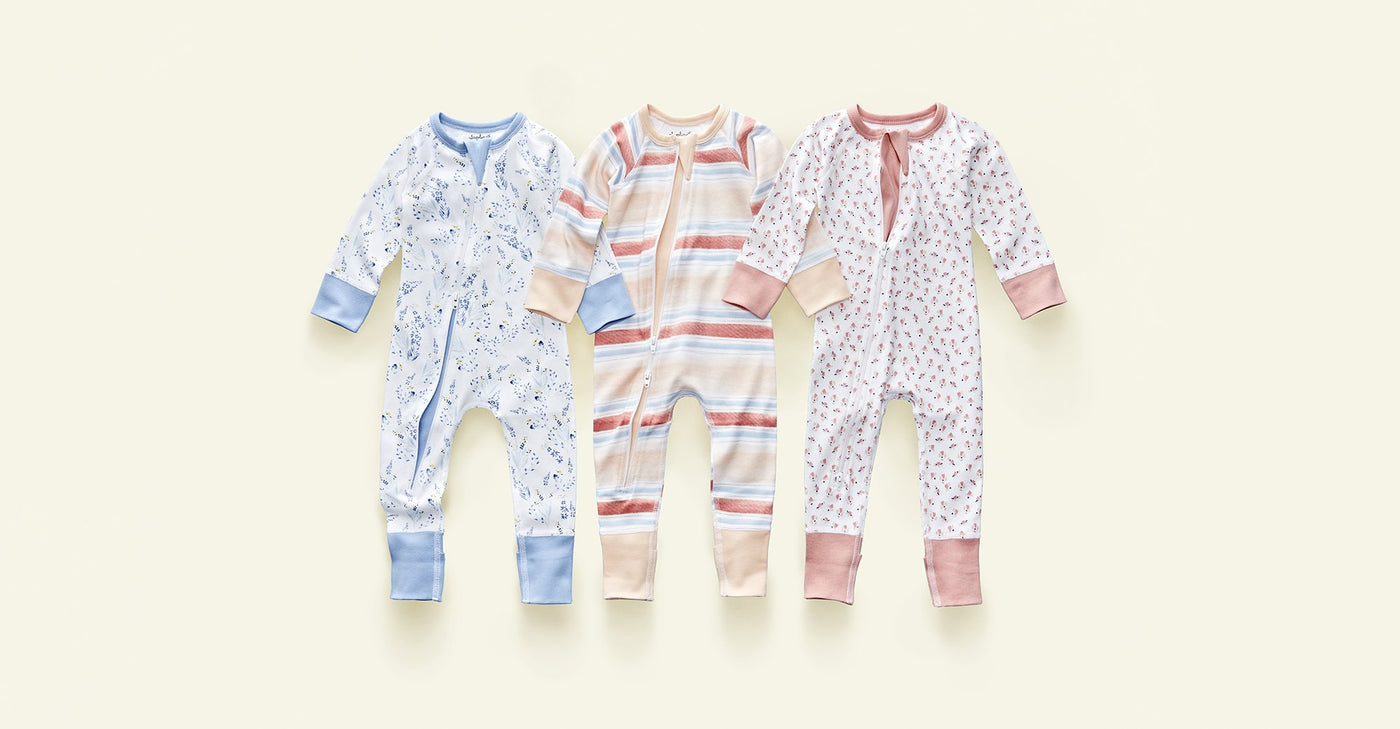 Sunset Stream Zip Romper - Sapling Organic Baby Clothes