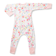 Floral Zip Romper - Sapling Organic Baby Clothes
