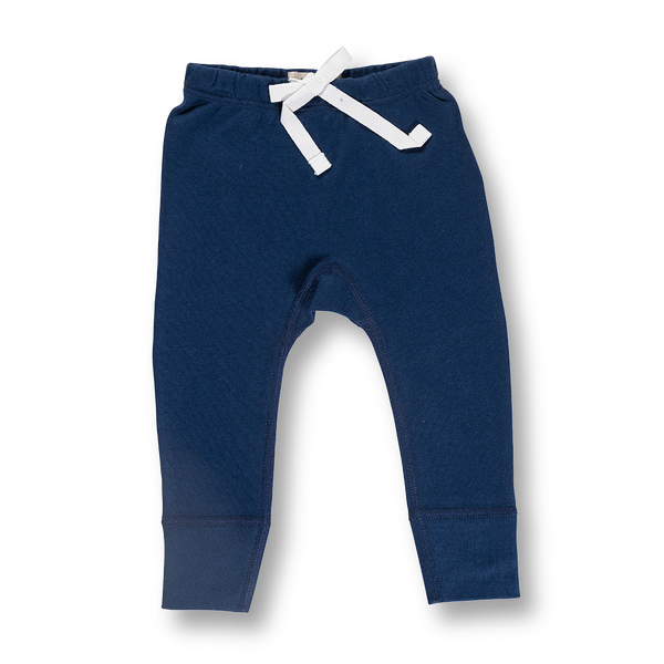 Little Bear Blue Pants - NO HEART - Sapling Organic Baby Clothes