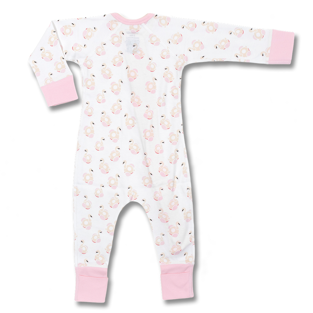 Flamingos Zip Romper - Sapling Child Australia