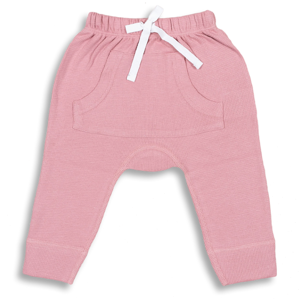 Bramble Pink Waffle Pants - Sapling Child Australia