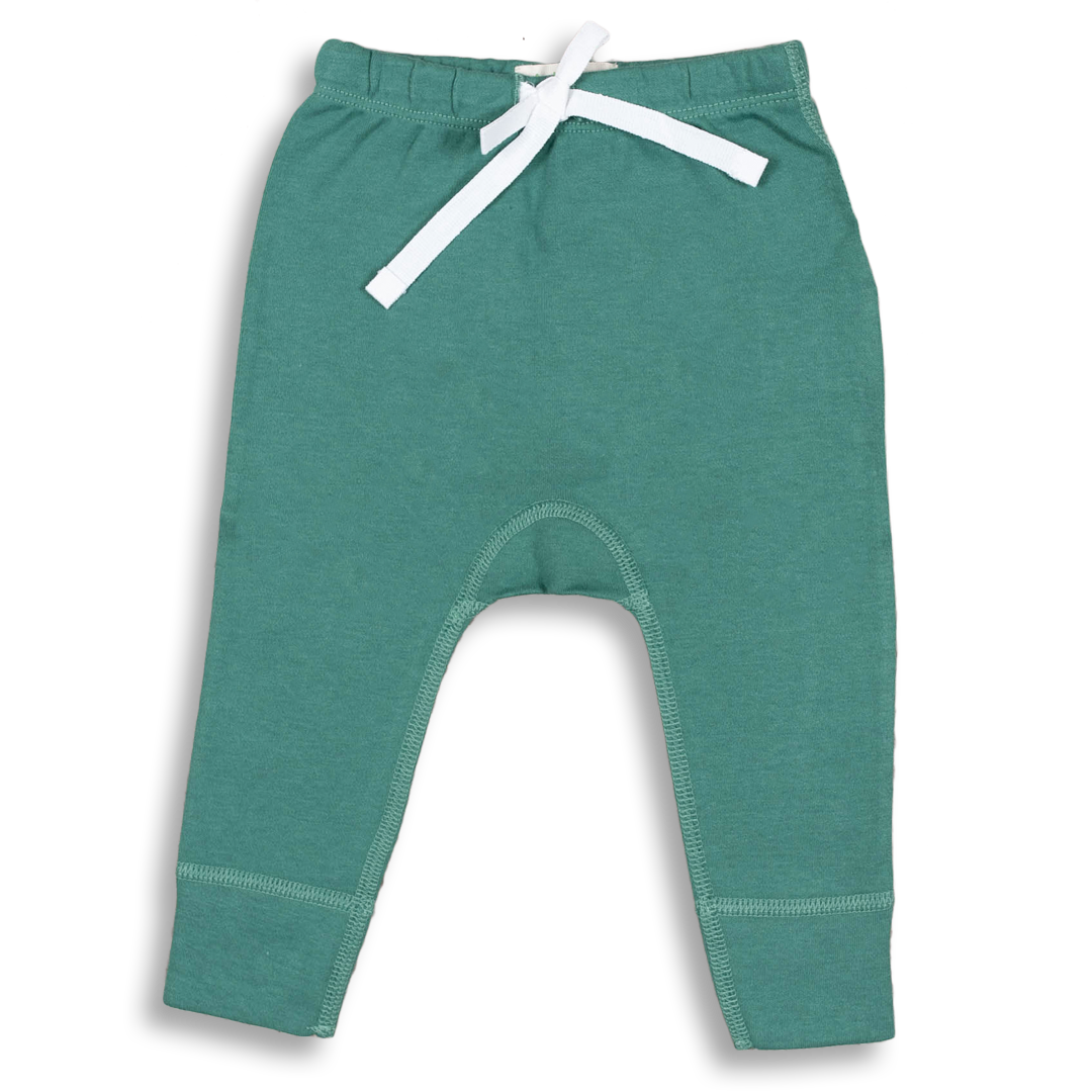 Spruce Green Heart Pants - Sapling Child Australia