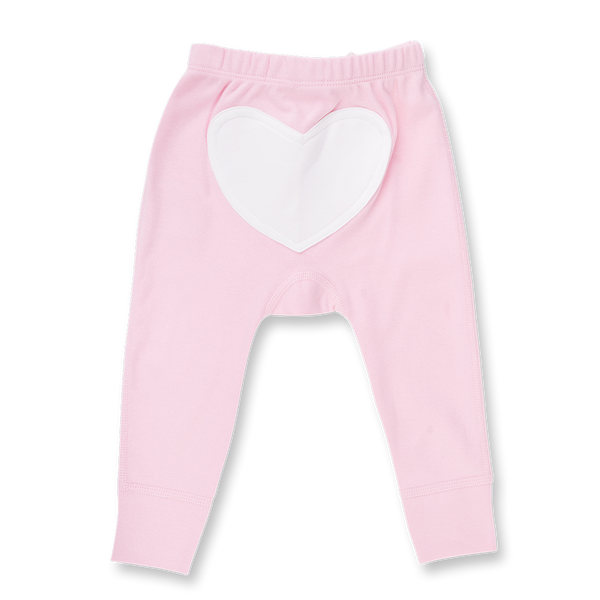 Rose Pink Heart Pants - Sapling Child