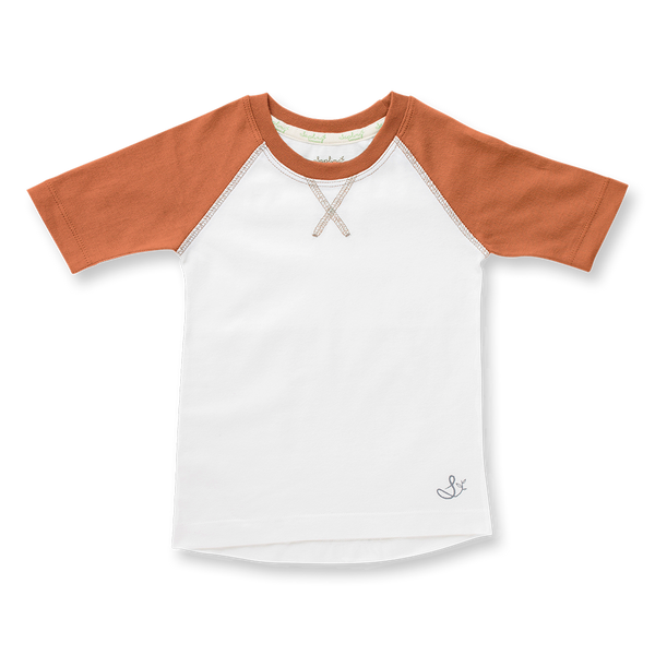Fox Brown Raglan Tee - Sapling Organic Baby Clothes