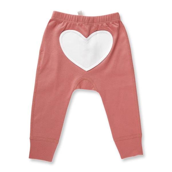 Bud Pink Heart Pants - Sapling Child