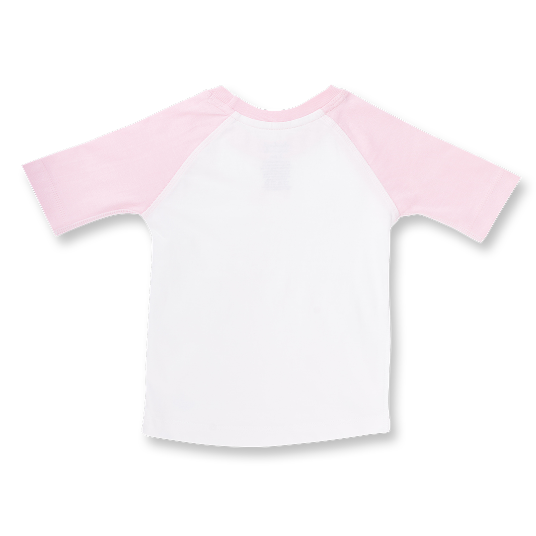 Rose Pink Raglan Tee - Sapling Child Australia