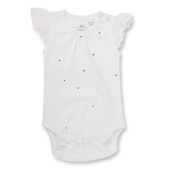 Twinkle Twinkle Lace Bodysuit - Sapling Organic Baby Clothes