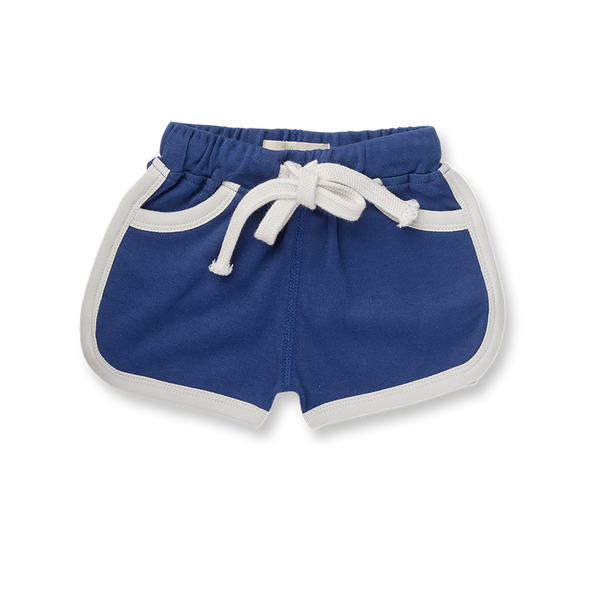 Jet Stream Blue Shorts - Sapling Organic Baby Clothes