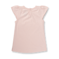 Blushing Rose Flutter Sleeve Tee - Sapling Organic Baby Clothes