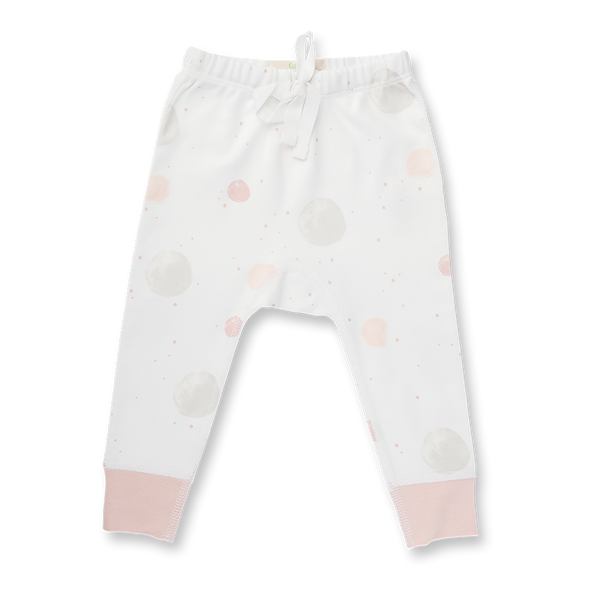 Blushing Orbit Pants - Sapling Organic Baby Clothes