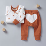 Signore Fox Zip Romper - Sapling Child