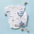 Whale Short Sleeve Bodysuit - Sapling Child