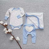 Little Boy Blue Heart Pants - Sapling Child