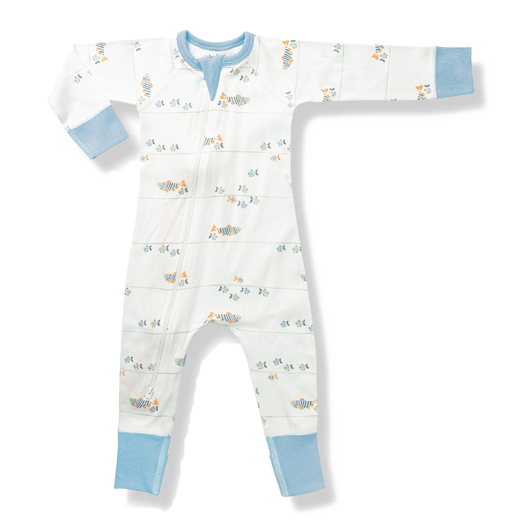 Water Baby Zip Romper - Sapling Child Australia