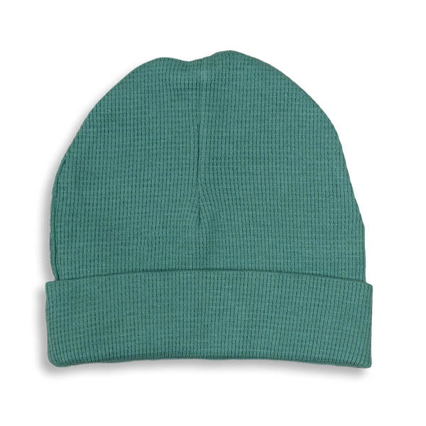 Spruce Green Waffle Hat - Sapling Organic Baby Clothes