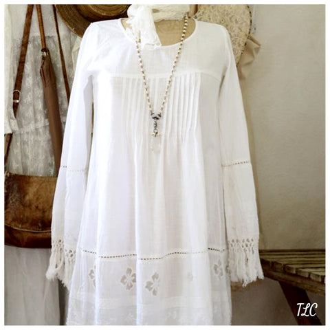 Dress - Bohemian Love - White