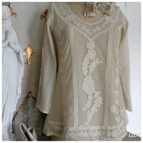 Blouse - Romantic Soul - Tea color