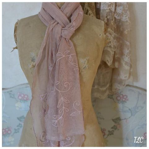 Scarf - Dreamy Senses in Tea rose