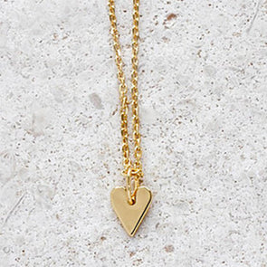 Heart Necklace - Short chain in Gold
