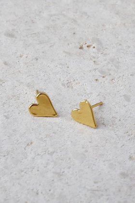 Heart in Gold Earrings