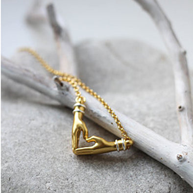 My Heart Necklace - Short Chain in Gold