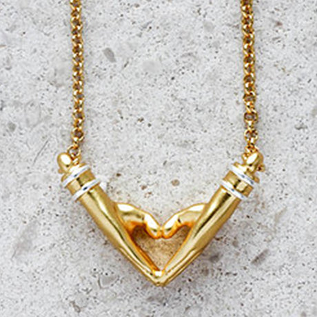 My Heart Necklace - Medium Chain in Gold