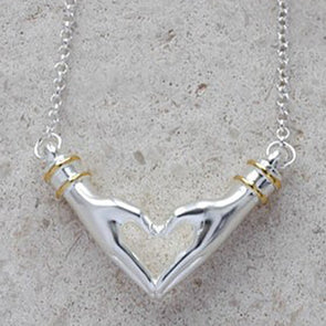 My Heart Necklace - Short Chain in Silver