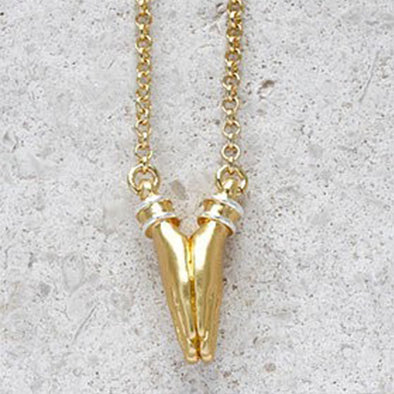 Namaste Necklace - Medium Chain in Gold