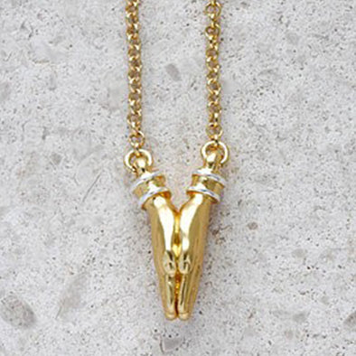 Namaste Necklace - Short Chain in Gold
