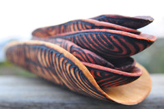 Wooden Coolamons Carved by Aboriginal Artists