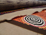 Unstretched Aboriginal paintings over 1 meter