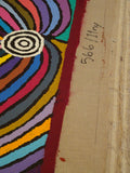 Unstretched Aboriginal canvases over 1 metre